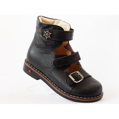 Ортопедические туфли ВБ-1144 siyah antik   (пр. Cezara, Турция)