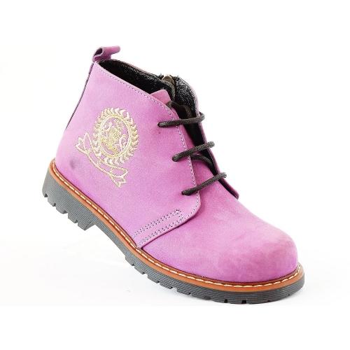 Ортопедические демисезонные ботинки 032-Lila  (ТМ  ZdravaObuvka, Турция)