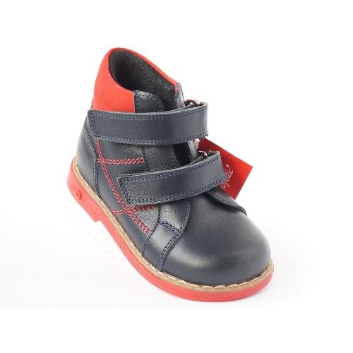 Ортопедические демисезонные ботинки  laci kirmizi 911(ТМ Cezara, Турция)