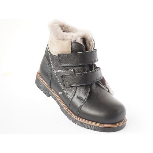 Ортопедические зимние ботинки SIYAH KURK 911  (ТМ Cezara, Турция)