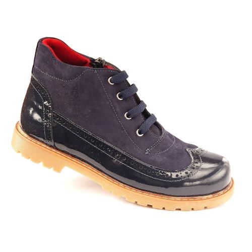 Ортопедические демисезонные ботинки 926-синие (ТМ Cezara, Турция)
