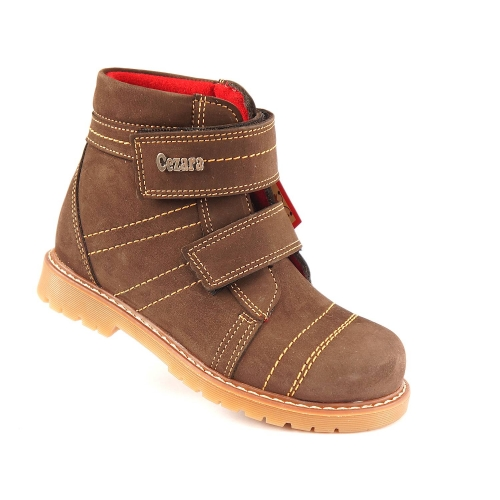 Ортопедические демисезонные ботинки корич. 921 (ТМ Cezara, Турция)