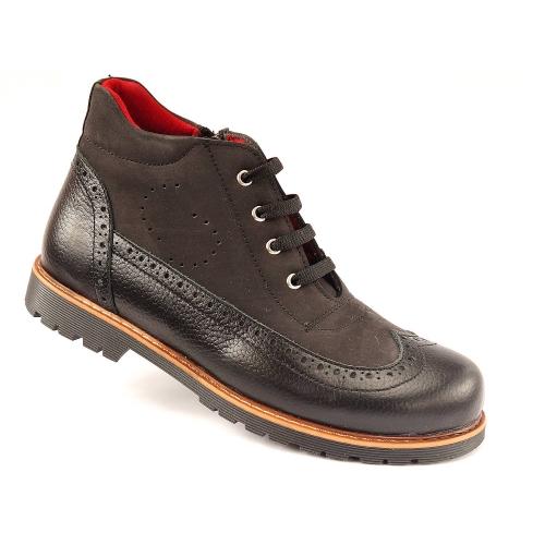 Ортопедические демисезонные ботинки 926-черные (ТМ Cezara, Турция)