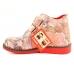 Ортопедические демисезонные ботинки красный 1714 (ТМ Cezara, Турция)
