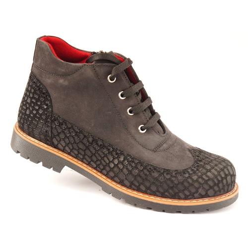 Ортопедические демисезонные ботинки черные 926 (ТМ Cezara, Турция)