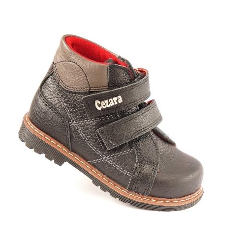 Ортопедические демисезонные ботинки 911-черные (ТМ Cezara, Турция)