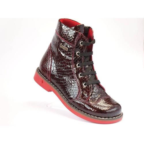 Ортопедические демисезонные ботинки 1107 бордо (ТМ Cezara, Турция)