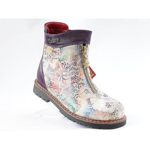 Ортопедические демисезонные ботинки 1812-синие (ТМ Cezara, Турция)