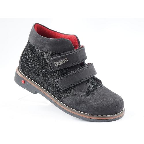 Ортопедические демисезонные ботинки 1106 нубук (ТМ Cezara, Турция)