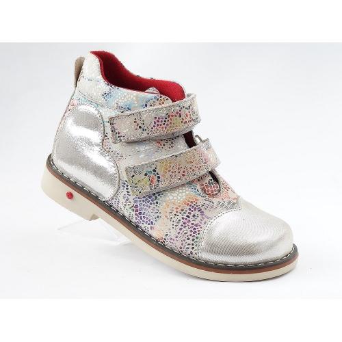 Ортопедические демисезонные ботинки 912 серебро (ТМ Cezara, Турция)