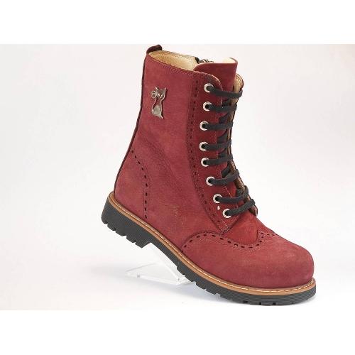 Ботинки деми дев. 248-Bordo Здрава обувка Турция 31(р)